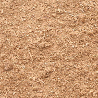 close up of sawdust