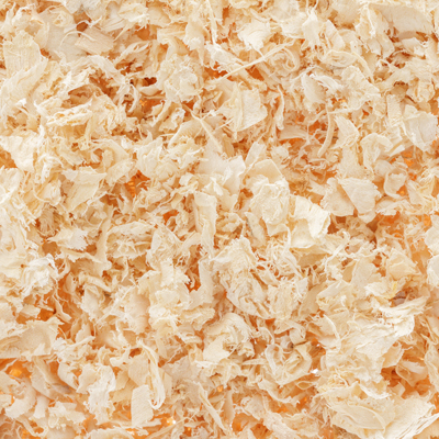 close up of wood shavings