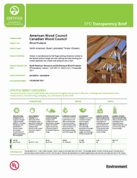 cover image link to the glue laminated timbers  transparency brief pdf