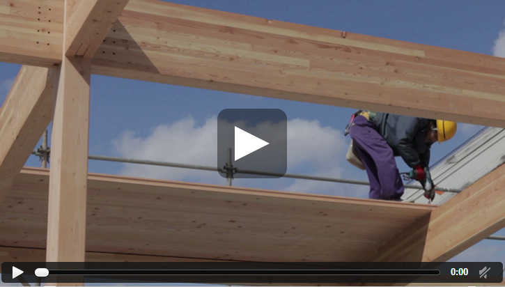 screen shot of the benefits of wood building in construction video